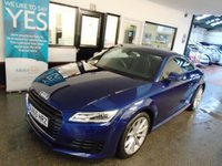 USED 2015 65 AUDI TT 2.0 TDI ULTRA SPORT 2d 182 BHP Two owners- Audi plus one lady, Full Audi service history, September 2019 Mot. Finished in Metallic Scuba Blue with Black Leather & Alcantara seats