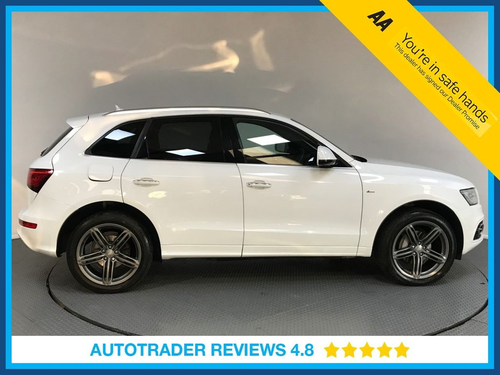 USED 2015 65 AUDI Q5 2.0 TDI QUATTRO S LINE PLUS 5d AUTO 187 BHP SERVICE HISTORY - 1 OWNER - SAT NAV - LEATHER - BLUETOOTH - PARKING SENSORS - AIR CON - CRUISE