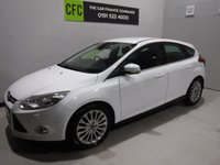 USED 2011 11 FORD FOCUS 1.6 TITANIUM X TDCI 5d 113 BHP AMAZING CAR  WITH FULL SERVICE HISTORY 8 STAMPS , FINISHED IN GLEAMING WHITE THE CAR HAS SOME GREAT OPTION, WITH HALF LEATHER, PARKING SENSORS, 18INCH UP GRADED ALLOYS, ELEC FOLDING MIRRORS BLUETOOTH PHONE PREP,