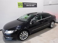 USED 2015 15 VOLKSWAGEN CC 2.0 GT TDI BLUEMOTION TECHNOLOGY DSG 4d AUTO 138 BHP AMAZING CAR WITH SERVICE HISTORY,   FININISHED IN GLEAMING BLACK, UPGRADED 19 INCH ALLOYS, LEATHER CLAD MULTI FUNCTION STEERING WHEEL,  SAT NAV,  FULL GLASS SUN ROOF,  REAR PARKING SENSORS, AUTO HEAD LAMPS,, FULL LEATHER SEATS ELEC HAND BRAKE BLUETOOTH PHONE PREP , TOUCH SCREEN RADIO CD