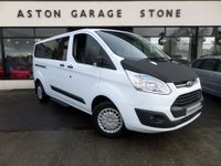 USED 2014 64 FORD TOURNEO CUSTOM 2.2 300 ZETEC TDCI 5d 124 BHP **9 SEATER** ** 1 OWNER * BLUETOOTH * HEATED FRONT SEATS **