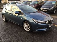 USED 2016 16 VAUXHALL ASTRA 1.6 DESIGN CDTI 5d 108 BHP OUR  PRICE INCLUDES A 6 MONTH AA WARRANTY DEALER CARE EXTENDED GUARANTEE, 1 YEARS MOT AND A OIL & FILTERS SERVICE. 6 MONTHS FREE BREAKDOWN COVER.   CALL US NOW FOR MORE INFORMATION OR TO BOOK A TEST DRIVE ON 01315387070 !!