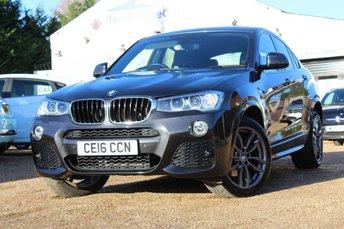 2016 BMW X4 2.0 XDRIVE20D M SPORT 4d AUTO 188 BHP £22950.00