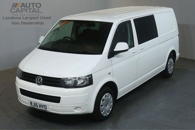2015 15 VOLKSWAGEN TRANSPORTER 2.0 T32 TDI TRENDLINE LWB AIR CON 102 BHP 5 SEATER COMBI WINDOW ONE OWNER FULL S/H SPARE KEY