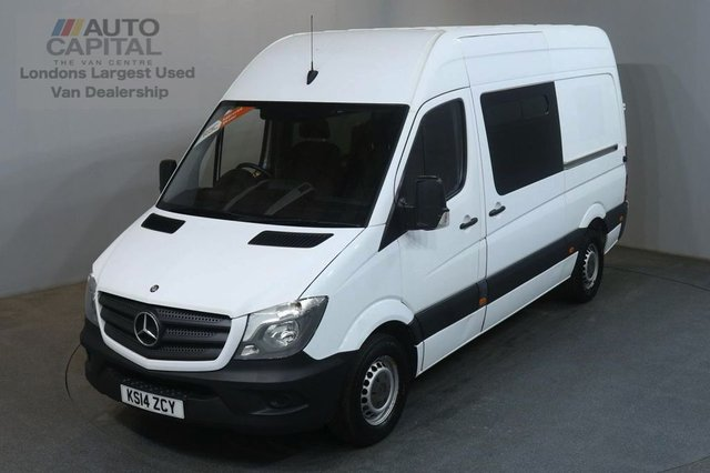 2014 14 MERCEDES-BENZ SPRINTER 2.1 313 CDI MWB 129 BHP H/ROOF 9 SEATER COMBI CREW VAN TWO OWNER