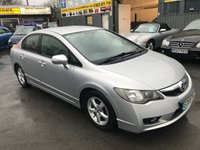 2009 HONDA CIVIC 1.3 IMA EX HYBRID 4 DOOR AUTO 115 BHP HYBRID IN SILVER WITH 122000 MILES. £3999.00
