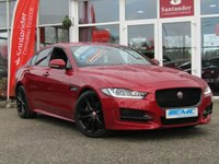 "USED 2015 65 JAGUAR XE 2.0 R-SPORT 4d AUTO 178 BHP STUNNING, 1 OWNER, £30 ROAD TAX, JAGUAR XE 2.0D R-SPORT AUTO. Finished in ITALIAN RACING RED (Firenze Red) with contrasting BLACK HEATED LEATHER SEATS. This is a fantastic family saloon car thats smart inside and sporty to drive. This is Jaguar elegance at its finest and together with its punchy 178 BHP delivery and only £30 Road tax you just couldnt ask for more. Features include Full Heated Leather seats, Sat Nav, DAB, 19"" Alloys, Rear View Camera and only £30 Road Tax."