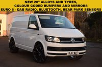 "USED 2017 17 VOLKSWAGEN TRANSPORTER 2.0 T26 TDI P/V STARTLINE BMT 1d 83 BHP 20"" BLACK GLOSS ALLOY WHEELS, NEW TYRES, BLUETOOTH, USB PORT, DAB RADIO, EURO 6 ENGINE."