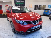USED 2016 66 NISSAN QASHQAI 1.5 DCI TEKNA 5d 108 BHP £20 ROAD TAX + FULL SERVICE HISTORY + SAT NAVIGATION + BLUETOOTH + CRUISE CONTROL + CLIMATE CONTROL+ CD PLAYER + HEATED SEATS + FULL LEATHER + ALLOYS + PRIVACY GLASS