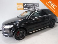 USED 2008 08 AUDI Q7 3.0 TDI QUATTRO S LINE 5d 240 BHP BEAUTIFUL CAR FINISHED IN GLEAMING BLACK. WITH IMMACULATE GRAY ALLOYS AND BRIGHT RED CALIPERS.  AUDI HISTORY, THIS CAR HAS BEEN SERVICED REGARDLESS OF COST WITH SOME NICE SPECIFICATIONS, INC SAT NAV, FULL HEATED  LEATHER DRL HEADLAMPS,,DUAL CLIMATE CONTROL, ELEC HEATED MIRRORS, TWIN BAR 18INCH UPGRADED ALLOYS, FLAT BOTTOM,MULTI FUNCTION LEATHER CLAD STEERING WHEEL, AUDI MULTI MEDIA SYSTEMS WITH USB AND AUX POINTS. BLUE TOOTH PHONE PREP