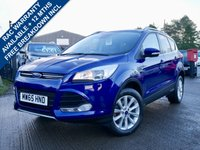 USED 2015 65 FORD KUGA 2.0 TITANIUM TDCI 5d AUTO 177 BHP 180BHP ENGINE, LOW MILES, 2 KEY, 1 FORMER KEEPER FROM NEW
