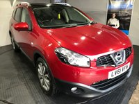 USED 2011 61 NISSAN QASHQAI 2.0 TEKNA PLUS DCI 2 4WD 5d AUTO 148 BHP Family 7-Seater    :    Fixed panoramic glass roof    :    Bluetooth    :    Satellite Navigation  :  Full leather upholstery   :   Heated front seats   :   Reversing camera   :   Full service history