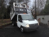 2013 FORD TRANSIT 2.2 T350/125 DRW CAGED TIPPER SINGLE CAB £13995.00