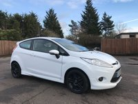 2010 FORD FIESTA 1.6 ZETEC S 3d  WITH BLACK ALLOY WHEELS AND SERVICE HISTORY £3250.00