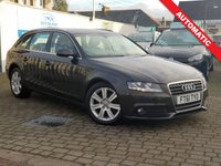 USED 2012 61 AUDI A4 2.0 AVANT TDI SE DPF 5d AUTO 141 BHP PLEASE CALL IF YOU DONT SEE WHAT YOUR LOOKING FOR AND WE WILL CHECK OUR OTHER BRANCHES.  WE HAVE  OVER 100 CARS IN DEALER STOCK