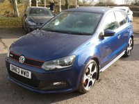 USED 2013 63 VOLKSWAGEN POLO 1.4 GTI DSG 5d AUTO 177 BHP 5 door 19,000 miles Finished in SHADOW BLUE, MONZA ALLOYS, HEATED TARTAN CLOTH SEATS