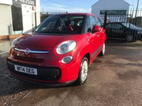2014 FIAT 500L MPW 1.2 MULTIJET POP STAR 5d 85 BHP 7 SEATER LOW MILEAGE £20 PER YEAR TAX                                                                   £6999.00