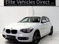 2013 BMW 1 SERIES 2.0 116D SPORT 5d 114 BHP £9991.00
