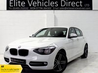 USED 2013 63 BMW 1 SERIES 2.0 116D SPORT 5d 114 BHP