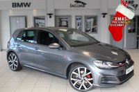 """USED 2017 67 VOLKSWAGEN GOLF 2.0 GTI TSI DSG 5d 227 BHP full vw service history FULL SERVICE HISTORY + SATELLITE NAVIGATION + XENON HEADLIGHTS + BLUETOOTH + UNDER VW MANUFACTURES WARRANTY + SWEEPING INDICATORS + HEATED FRONT SEATS + 8"""" TOUCH SCREEN + ADAPTIVE CRUISE CONTROL + 19 INCH ALLOYS + PARKING SENSORS + LED DAYTIME LIGHTS + DAB RADIO"""