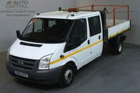 USED 2010 10 FORD TRANSIT 2.4 350 100 BHP LWB D/CAB 6 SEATER COMBI TWIN WHEEL TIPPER  REAR BED LENGTH 9 FOOT 4 INCH