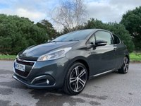 USED 2015 65 PEUGEOT 208 1.2 PURETECH S/S GT LINE 3d AUTO 110 BHP AUTOMATIC 1 OWNER CAR WITH 23K FSH VERY ECONOMICAL TO TAX RUN AND INSURE DESPITE ITS SPORTY LOOKS!!!