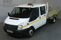 USED 2013 13 FORD TRANSIT 2.2 350 124 BHP LWB D/CAB 6 SEATER COMBI TIPPER REAR BED LENGTH 9 FOOT 2 INCH