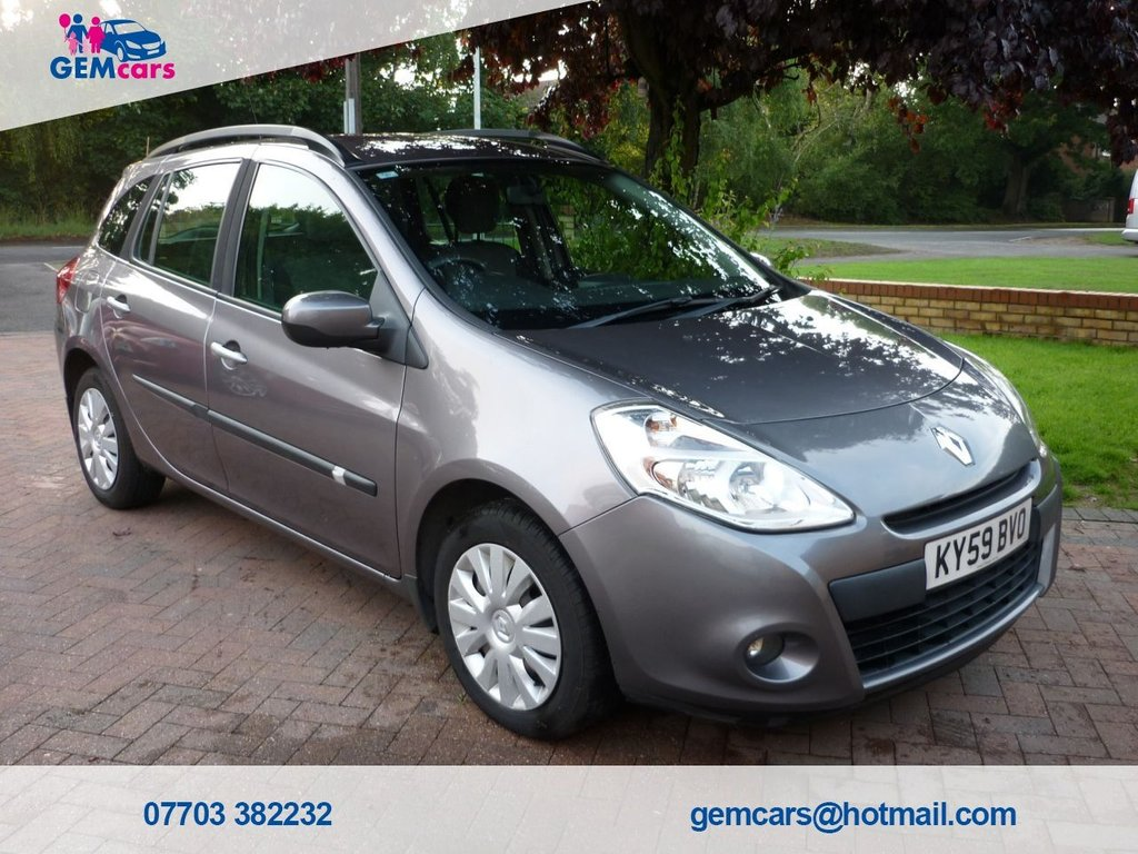 USED 2009 59 RENAULT CLIO 1.1 EXPRESSION TCE 5d 101 BHP GO TO www.gemcarsltd.co.uk TO WATCH A WALKROUND VIDEO