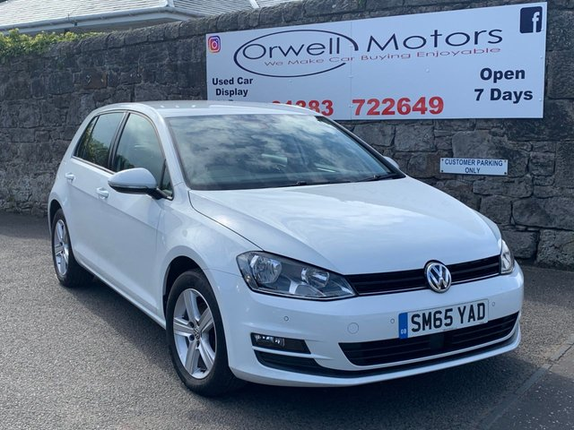 USED 2015 65 VOLKSWAGEN GOLF 1.6 MATCH TDI BLUEMOTION TECHNOLOGY 5d 109 BHP 1 OWNER+CRUISE CONTROL+PARKING AID