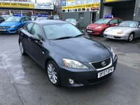 2007 LEXUS IS 2.5 250 SE 4 DOOR 204 BHP IN METALLIC GREY WITH 123000 MILES AND A LONG MOT BEING OFFERED AS A TRADE CLEARANCE. £1999.00