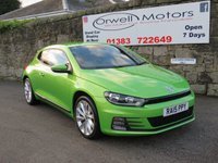 USED 2015 15 VOLKSWAGEN SCIROCCO 2.0 GT TDI BLUEMOTION TECHNOLOGY 2d 182 BHP FULL VW SERVICE HISTORY+LEATHER+SATELLITE NAVIGATION