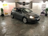USED 2012 12 VOLKSWAGEN GOLF 1.6 MATCH TDI BLUEMOTION TECHNOLOGY 5d 103 BHP TOP SPEC VEHICLE WITH MANY EXTRAS