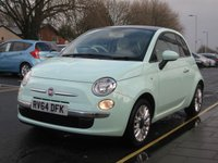 2014 FIAT 500 1.2 LOUNGE 3d 69 BHP £6195.00