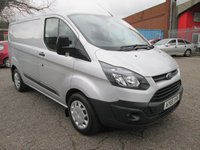 USED 2015 65 FORD TRANSIT CUSTOM 290 SWB Low roof L1 H1 100 PS *AIR CON* AIR CONDITIONING + BLUETOOTH + PARK SENSORS