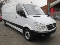 2012 MERCEDES-BENZ SPRINTER 313 CDi LWB High roof 4 metre load length *BLUETOOTH + CRUISE* £9495.00