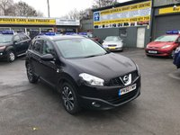 2010 NISSAN QASHQAI 1.5 N-TEC DCI 5d 110 BHP IN BLACK WITH A PANORAMIC ROOF AND SAT NAV WITH 78000 MILES. £6299.00