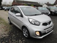 USED 2012 62 KIA PICANTO 1.0 1 3d 68 BHP FREE ROAD TAX EXCELLENT FUEL ECONOMY