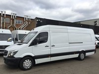 USED 2014 64 MERCEDES-BENZ SPRINTER 2.1 313CDI XLWB HIGH ROOF 4.7 METERS. AIRCON. PARK ASSIST.  AIRCON. PARK ASSIST. EXTRA LONG VAN 4.8M. LOW FINANCE.