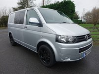 USED 2011 61 VOLKSWAGEN TRANSPORTER T32 5 SEAT KOMBI CREWVAN DSG AUTO 2.0 TDI 140 BHP Popular 5 Seat Kombi With 140Ps Engine & DSG Auto Gearbox, Many Extras Including Black Sportline Alloys, Air Con & Electric Pack!