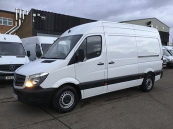 2014 MERCEDES-BENZ SPRINTER 2.1 313CDI MWB HIGH ROOF 130BHP. 1 OWNER. LOW 91K FSH.  £8990.00