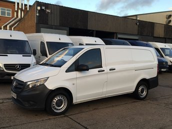 2015 MERCEDES-BENZ VITO 1.6 111CDI LONG 114BHP NEW SHAPE. LOW 40,000 MILES. 1 OWNER £8950.00