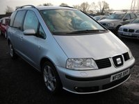 USED 2008 08 SEAT ALHAMBRA 2.0 STYLANCE TDI 5d 139 BHP 1 Previous owner - Xenon head lights