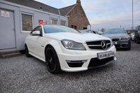 USED 2013 13 MERCEDES-BENZ C CLASS C63 AMG 6.3 V8 Auto 2dr ( 457 bhp ) Super Spec C63 Finished in Diamond White Metallic Paint Low Mileage Example with Beautiful Two Tone Black/Red Leather Interior