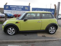 USED 2010 MINI HATCH ONE 1.6 ONE 3d 98 BHP New MOT & Full Service Done on purchase + 2 Years FREE Mot & Service Included After . 3 Months Russell Ham Quality Warranty . All Car's Are HPI Clear . Finance Arranged - Credit Card's Accepted . for more cars www.russellham.co.uk  -Owners Book Pack.