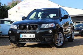 2013 BMW X3 2.0 XDRIVE20D M SPORT 5d AUTO 181 BHP £14950.00