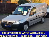 2011 VAUXHALL COMBO IN SILVER WITH AIR CONDITIONING FROM YORKSHIRE WATER £3395.00