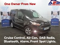 2015 FORD TRANSIT CONNECT 1.6 TDCi 200 LIMITED 115 BHP in Black with Air Con, Alloys, Bluetooth, Dab Radio, Cruise Control, Rear Park Sensors and more.... £9680.00