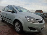 2009 VAUXHALL ZAFIRA 1.6 LIFE SEATER FULL SERVICE LOW MILES £2595.00