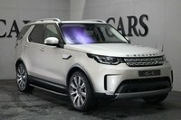 USED 2017 67 LAND ROVER DISCOVERY 3.0 TD6 HSE 5d AUTO 255 BHP Aruba Metallic with Nimbus Perforated Leather / Espresso, Climate Controlled Comfort Seats Front and Rear, Full Length Panoramic Glass Roof + Power Blind, 21 Inch Diamond Turned Alloy Wheels, Adaptive LED Headlights with LED Signature, HDD Satellite Navigation + DAB Radio + Bluetooth Connectivity + Premium Meridian Surround Sound, Activity Key, Blind Spot Monitor and Reverse Traffic Detection, Lane Departure Warning, Heated leather Multi Function Steering Wheel, Land Rover Side Steps, Front and