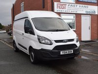 2014 FORD TRANSIT CUSTOM 2.2 290 L2 H2 LWB HIGH ROOF 125 BHP £9449.00